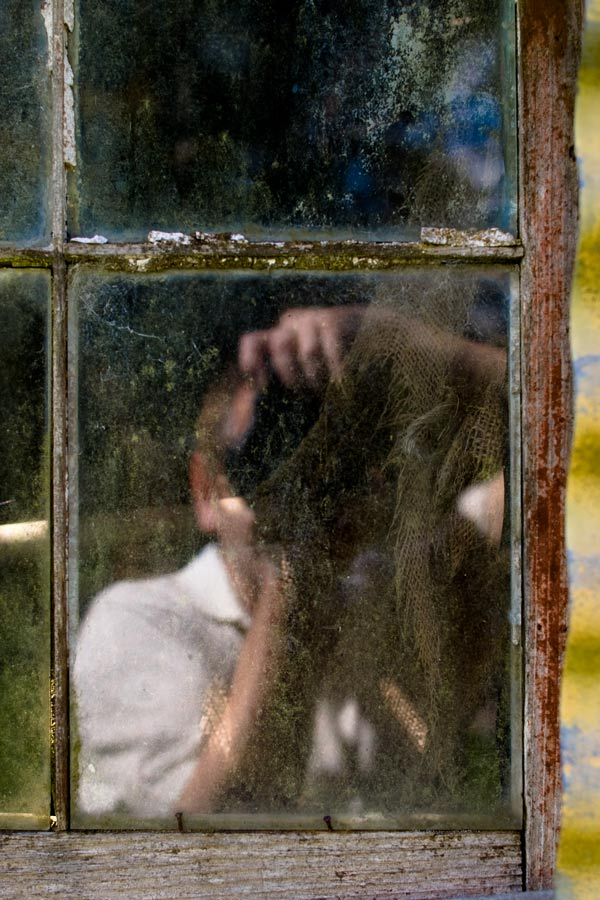 self-portrait window