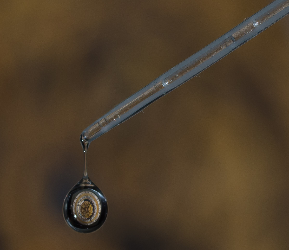 antique clock in a drop