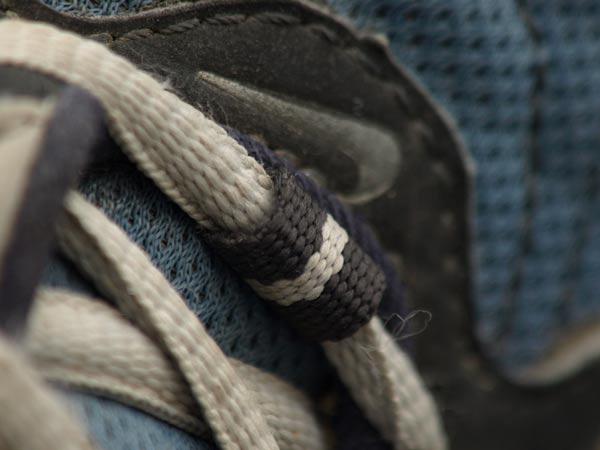 My shoelaces at 800mm focal length