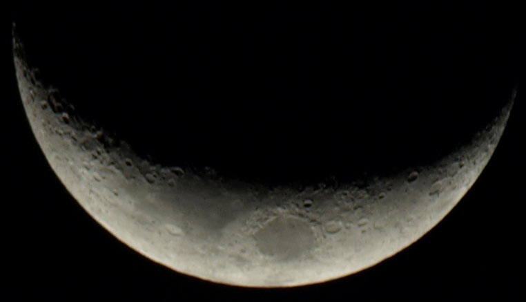 moon via tripod 800mm