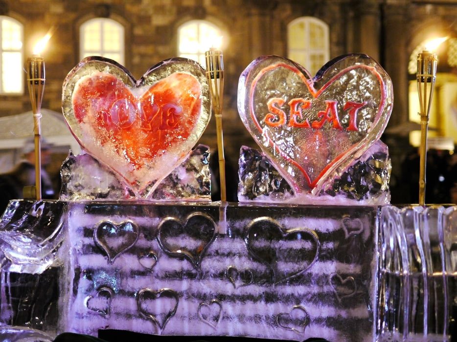 Ice sculptures on Copenhagen's cultural night
