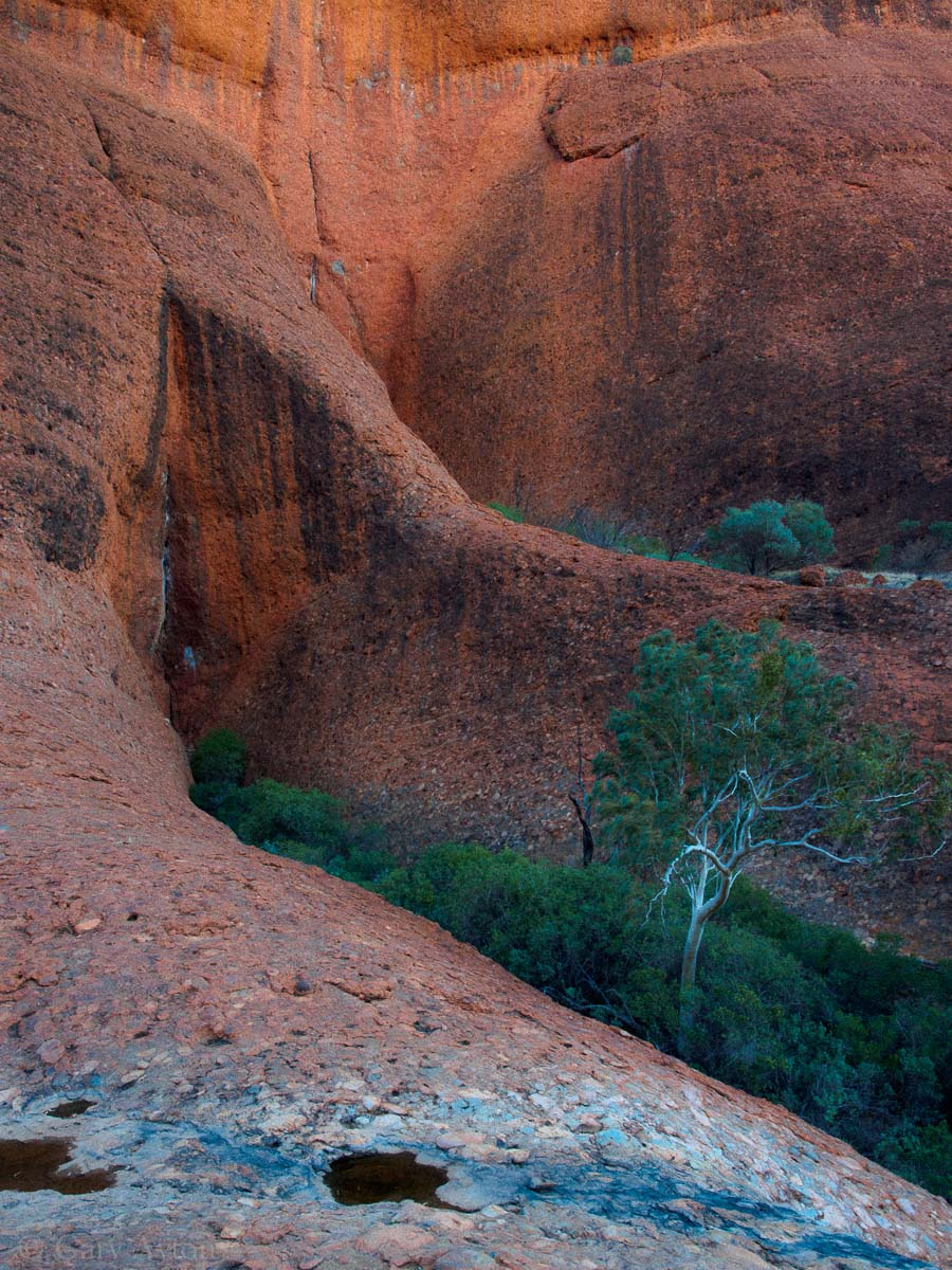 Kata Tjuta walk just before sunset