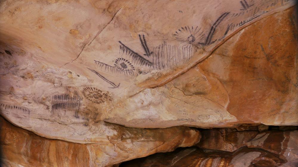 Aboriginal cave painting
