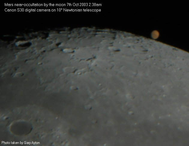 photographing astronomical occultations [Gary Ayton's