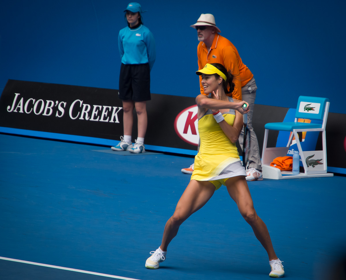 Ana Ivanovic - the joy of hitting a winning shot