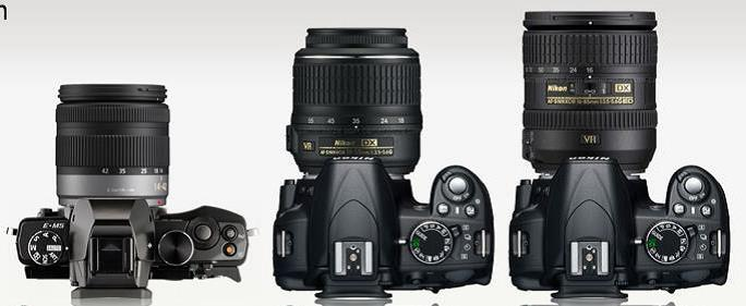 EM-5 compared to dSLRs